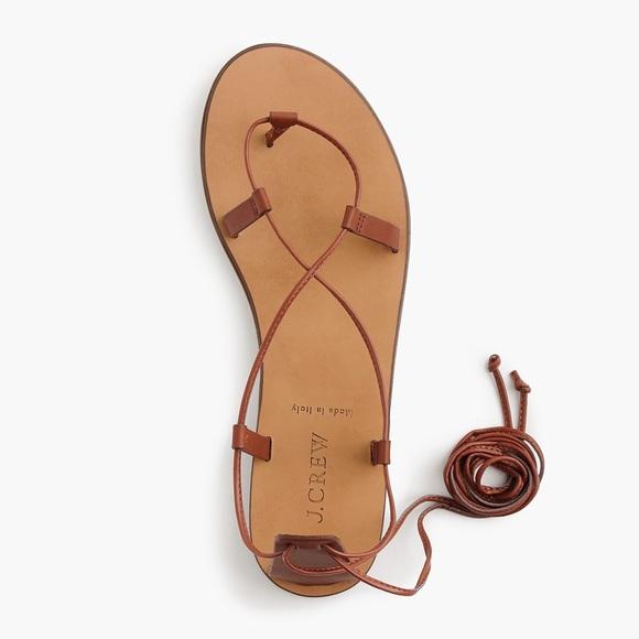 27d8a1d43207 J Crew Black Leather Lace up sandals